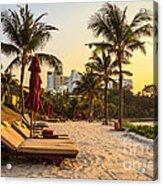 Sunset Holiday Acrylic Print by Niphon Chanthana