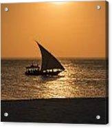 Sunset In Zanzibar Acrylic Print