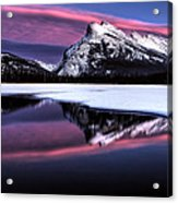 Sunset Mount Rundle Acrylic Print