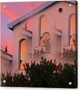 Sunset On Houses Acrylic Print by Augusta Stylianou