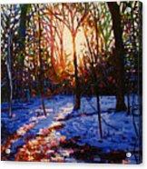 Sunset On Snow Acrylic Print