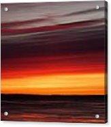 Sunset On The Sea Acrylic Print