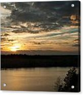 sunset over Aboda Klint lake Acrylic Print
