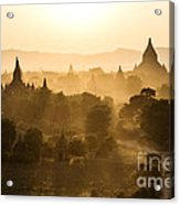 Sunset Over Bagan - Myanmar Acrylic Print