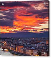 Sunset Over Florence Acrylic Print