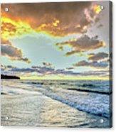 Sunset Over Lake Superior, Keweenaw Acrylic Print