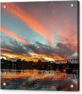 Sunset Over New Hope Acrylic Print