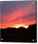 Sunset Over The Mountain Acrylic Print