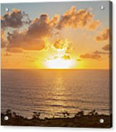Sunset Over The Pacific Ocean, Torrey Acrylic Print