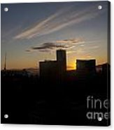 Sunset Over The Skyline Of Vancouver Acrylic Print
