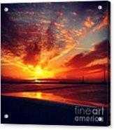 Sunset Puddle Reflections Acrylic Print