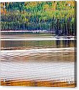 Sunset Reflections On Boreal Forest Lake In Yukon Acrylic Print