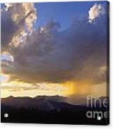 Sunset While Raining Over Mt. Mansfield Stowe Vermont Acrylic Print