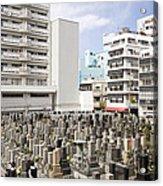 Super Dense Cemetery In Tokyo Acrylic Print