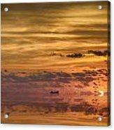 Supertanker Sunset V6 Acrylic Print