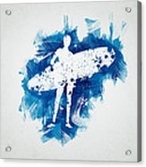 Surfer Girl Acrylic Print