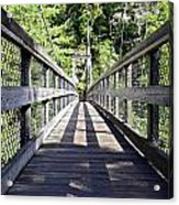 Suspension Bridge Acrylic Print by Susan Leggett