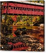 Swift River Covered Bridge Acrylic Print by Jeff Folger