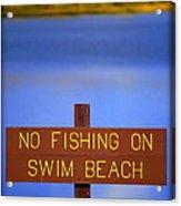 Swim Beach Sign II Acrylic Print