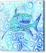 Swirly Shark Acrylic Print