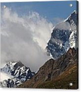 Swiss Alps Shrouded In Clouds Acrylic Print