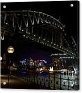 Sydney Harbor Bridge At Night Acrylic Print