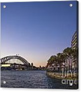 Sydney Harbour In Australia By Night Acrylic Print