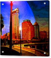 Tampa History In Reflection Acrylic Print