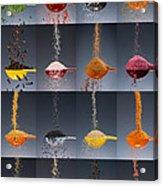 1 Tablespoon Flavor Collage Acrylic Print by Steve Gadomski