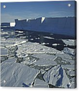 Tabular Iceberg With Broken Fast Ice Acrylic Print