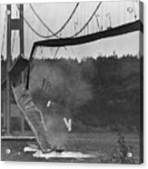 Tacoma Narrows Bridge Collapse Acrylic Print