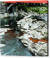 Taftsville Covered Bridge Vermont Acrylic Print