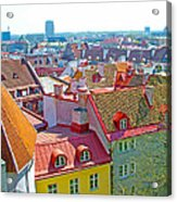 Tallinn From Plaza In Upper Old Town-estonia Acrylic Print