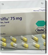 Tamiflu Influenza Drug Capsules Acrylic Print
