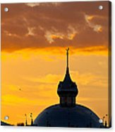 Tampa Bay Hotel Dome At Sundown Acrylic Print