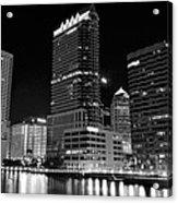 Tampa Black And White  Acrylic Print