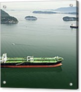 Tanker Ships At Anchor Offshore Of The Acrylic Print