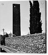 Tarquinia Muro Di Cinta Cipressi Torre Lampione Acrylic Print