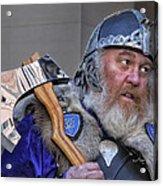 Tartan Day Parade Nyc 2013 Shetland Isle Celtic Warrior Acrylic Print