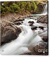 Tawhai Falls In Tongariro Np New Zealand Acrylic Print