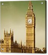 Taxi And Big Ben Acrylic Print