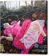 teddy Bears Picnic Acrylic Print by Shelley Laffal