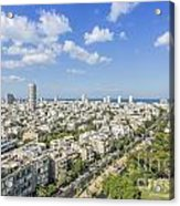 Tel Aviv Israel Elevated View Acrylic Print