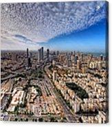 Tel Aviv Skyline Acrylic Print