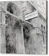 Telegraf Building In Foggy Oslo Acrylic Print