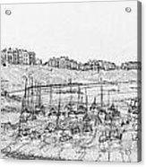 Tenby Harbor Panorama Acrylic Print