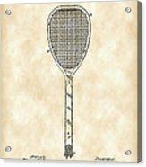 Tennis Racket Patent 1887 - Vintage Acrylic Print