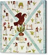 Tenochtitlan (mexico City) With Aztec Acrylic Print
