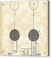 Tesla Electric Transmission Patent 1900 - Vintage Acrylic Print