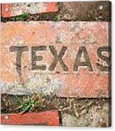 Texas Brick Acrylic Print